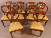 Set of 10 Victorian Mahogany Balloon Back Dining Chairs (6 of 12)