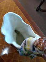 Staffordshire Pottery Flower Vase & Lady (3 of 4)