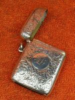 Antique Sterling Silver Hallmarked Large Vesta Case Sirus 1900, Horton & Allday (4 of 9)