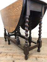 Early 20th Century Antique Oak Gateleg Table (3 of 12)