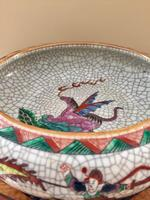 Chinese Crackle-glaze Bowl on Wooden stand, Qing Dynasty (4 of 10)