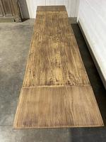 Nice Large Bleached Oak Farmhouse Dining Table With Extensions (32 of 35)