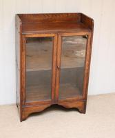 Small Proportioned Oak Glazed Bookcase (8 of 10)