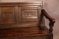 Antique Oak Settle (4 of 11)