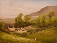 "Oil Painting by Walter Henry Goldsmith ""Springtime, Porlock, Somerset"" (2 of 6)"