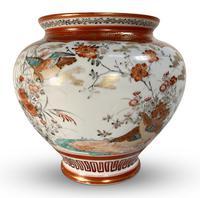 Meiji Period Kutani Kacho Decorated Vase (4 of 5)