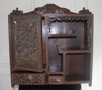 Antique Japanese Carved Wood Tabletop Cabinet c.1900 (6 of 15)