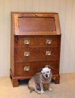 Arts and Crafts Oak Bureau (4 of 11)