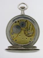 Silver 0.900 Omega Open Face Pocket Watch Swiss 1916 (6 of 7)