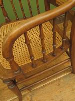 Unusual Antique Bentwood Chair with Caned Seat & Back (13 of 17)