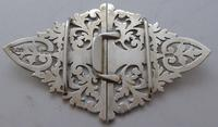 London 1902 Hallmarked Solid Silver Nurses Belt Buckle Marples & Co (5 of 8)