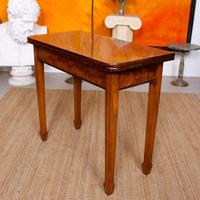 Writing Table 19th Century Flamed Mahogany Folding Card Console Table (6 of 12)
