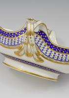 18th Century Sevres Porcelain Sauciere A Deux Sauceboat & Plate Pois Bleu 1788 (7 of 20)