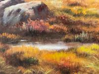 """Oil Painting Scottish Stags """"Denizens of the Highlands"""" Signed Wendy Reeves (35 of 45)"""