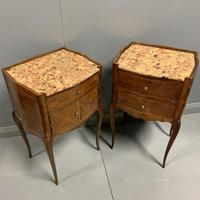 Pair of French Marble Top Bedside Cabinets (6 of 6)