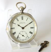 Antique silver Waltham pocket watch (2 of 6)