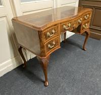 Pretty Quality Burr Walnut Dressing Table (4 of 17)