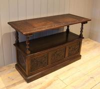 Late Victorian Solid Carved Oak Monks Bench (4 of 12)