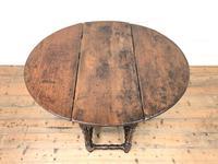 Antique Oak Drop Leaf Dining Table (2 of 13)