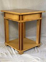 Art Deco Style 20th Century French Blonde Wood Side Table (3 of 13)