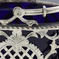 Pretty Edwardian Pierced Silver Sugar Basket (7 of 9)