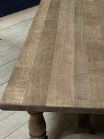 Deep Bleached Oak French Farmhouse Dining Table (16 of 20)