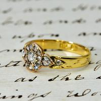 The Antique Victorian Old European & Rose Cut Diamond Ring (2 of 4)
