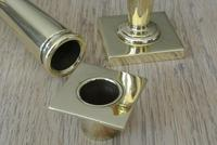 Pair of William Tonks English Art Nouveau Brass Candlesticks Registered Number for 1904 (6 of 7)