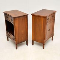 Pair of Georgian Style Burr Walnut Bedside Cabinets c.1930 (10 of 11)