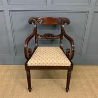 Excellent Pair of Regency Mahogany Scroll Armchairs (8 of 17)