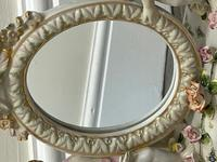 Pair of Small Dresden Victorian Style Porcelain Cherub Table Mirrors (3 of 60)