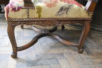 Pair of French Regence Carved Walnut Library Fauteuils (8 of 9)