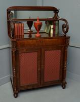 Fine Regency Mahogany Chiffonier Side Cabinet (7 of 18)