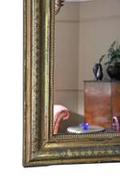 Gilt 19th Century overmantle wall mirror large (3 of 6)