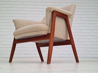 Danish 60s Design, Completely Reupholstered Armchair, Kvadrat Furniture Wool, Teak (7 of 11)
