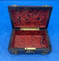 Victorian Brassbound French Rosewood Trinket Box (3 of 11)