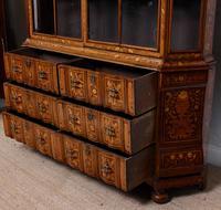 Dutch Bombe Bookcase Vitrine Display Cabinet on Chest Glazed (5 of 17)