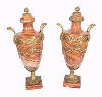 Pair of French Marble Urns Amphora Cassoulets Empire 1890 (4 of 16)
