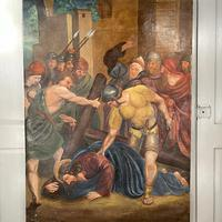 Antique French Religious Oil Painting Study of One of the Stations of the Cross (2 of 10)