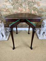 Carved Georgian Style Fold Over Card Table (7 of 8)