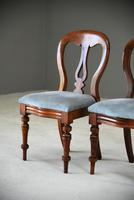 Pair of Victorian Mahogany Dining Chairs (4 of 9)