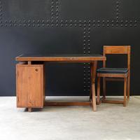 X- Leg Administrative Desk by Pierre Jeanneret c.1960 (2 of 7)