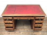 Antique Kneehole Desk (3 of 12)