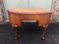 Antique Walnut & Burr Walnut Kidney Shaped Desk (8 of 13)