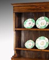 Handsome George III Period Oak Dresser & Rack (3 of 9)