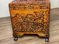 Chinese Camphor Wood Carved Birds & Flowers Chest Coffee Table (30 of 34)