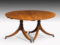 George III Period Two Pillar Dining Table (3 of 4)