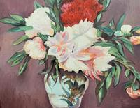 Large Original Gilt Framed 20th Century Impressionist Still Life Floral Oil Painting (7 of 12)