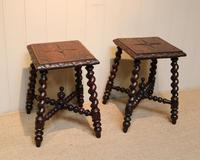 Pair Of Carved Oak Tables (3 of 9)