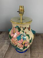 Victorian English Floral Vase Table Lamp, Rewired & Pat Tested (9 of 15)